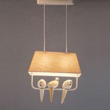 Moderne Pendelleuchten Vgel Stoff Lampenschirm Wohnzimmer Esszimmer Loft Led Lampe Weiss Eisen Hause Leuchte E27 110 240 V