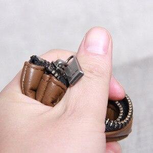 Image 5 - AETOO billetera de cuero hecha a mano para hombre y mujer, billetera de piel de vaca, clip para dinero, diseño simple, general