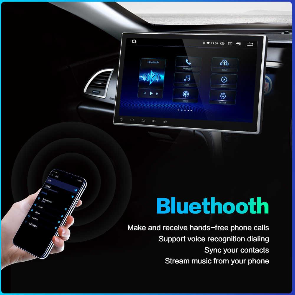 "10.2 ""Android 9.0 Auto Gps Radio Voor 2 Dubbele Din Een 1 Din Universele 4 Gb + 64 gb Auto Stereo Multimedia Autoradio PX6 Dvd Pc"