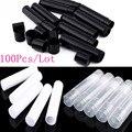 100 Pcs/Lot 5ml Cosmetic Empty Chapstick Lip Gloss Lipstick Balm Tube + Caps Container Lip Tubes Bottle Black/White/Clear