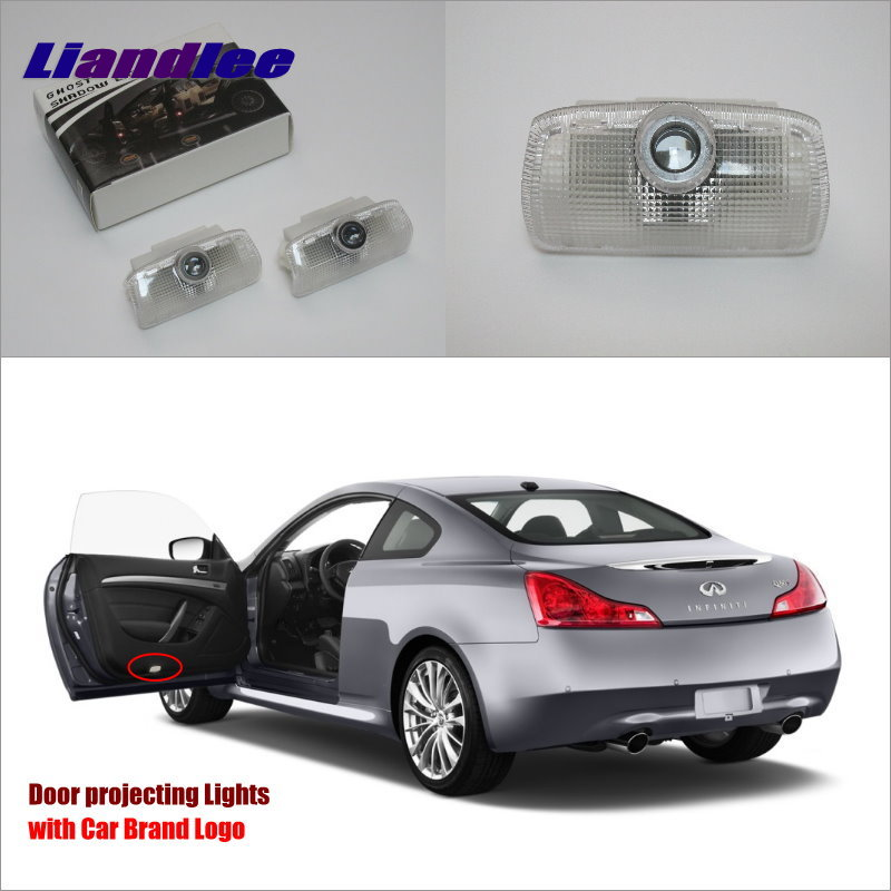 Liandlee Car Door Ghost Shadow Lights For <font><b>Infiniti</b></font> Q60 <font><b>Q70</b></font> 2013 / Q50 <font><b>2014</b></font> Courtesy Doors Lamp / LED Projector Welcome Light image
