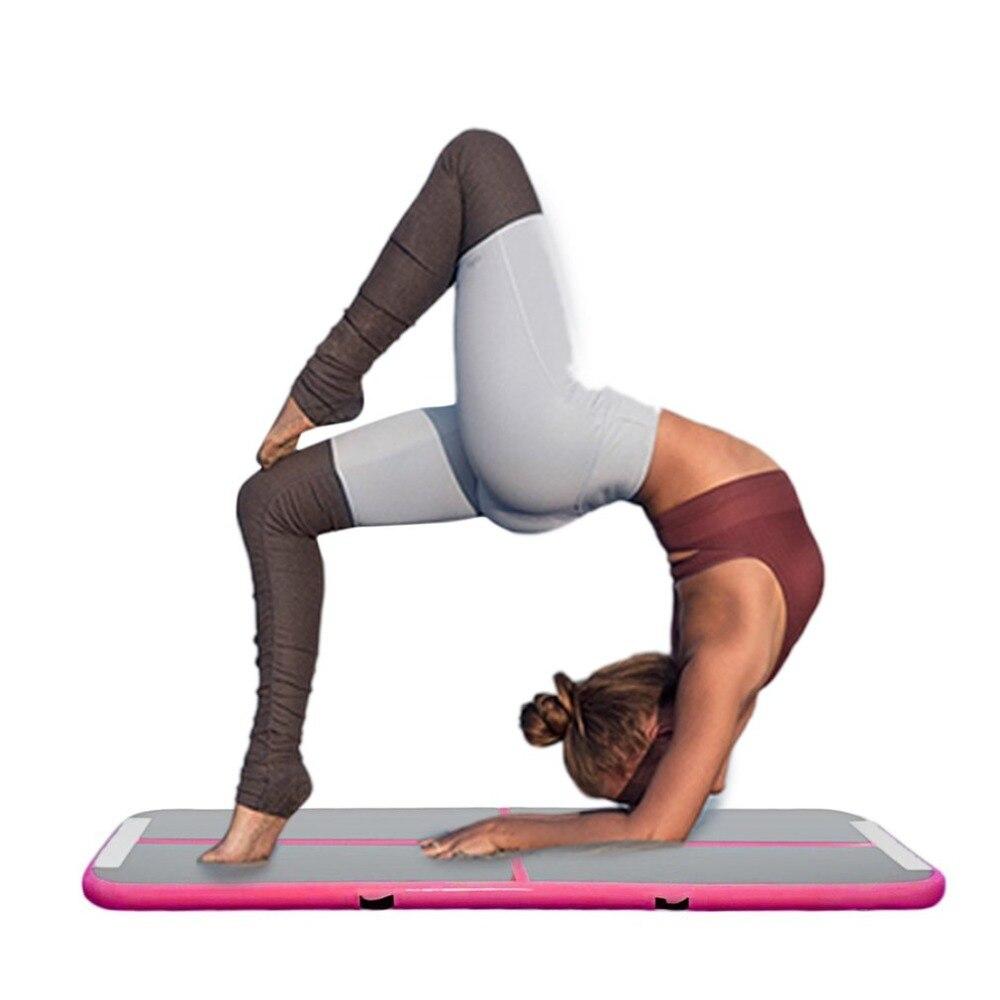0.9x3 m femmes gonflable Gym Yoga tapis intérieur étage maison Fitness formation culbuteur tapis en plein Air exercice pique-nique Air piste Pad