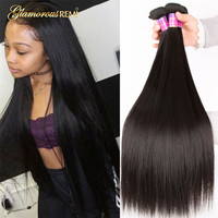 Peruvian Straight Hair Bundles 100% Real Remy Human Hair Weaving Extension Free Shipping No Shed Natural Color 8 26 Inch sale