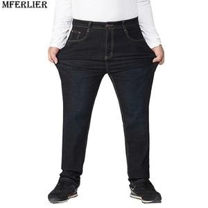 Image 5 - autumn plus big size jeans pants men 6XL 7XL 8XL 9XL 10XL casual large long pants 44 46 48 50 52 Elasticity autumn classic new