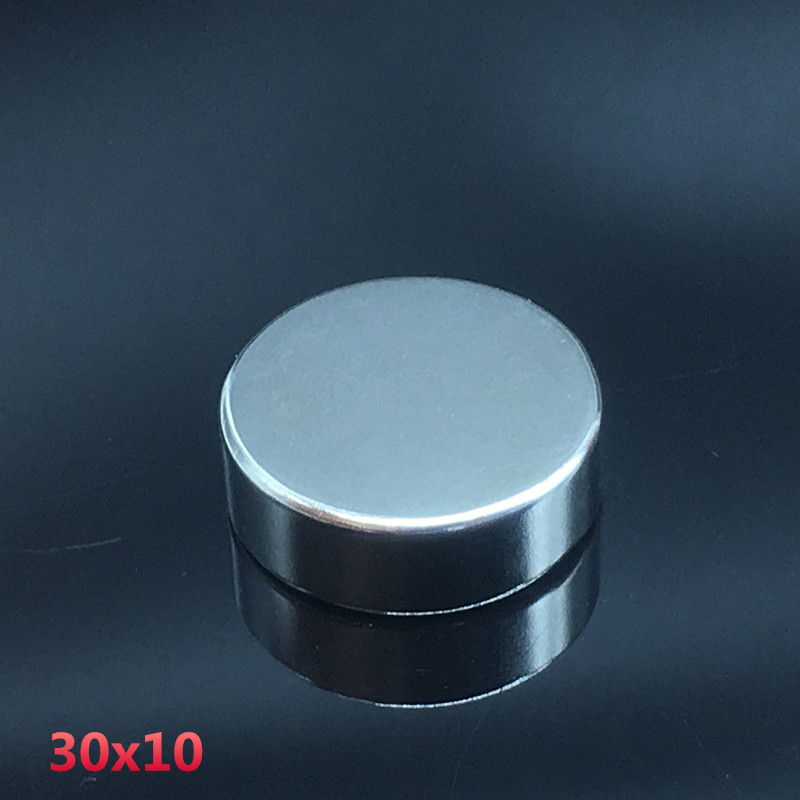 1pcs 30x10mm neodymium magnet 30mm*10mm strong rare earth neodymium magnets 30*10 mm NdFeB permanent round magnetic 30mmx10mm 1pcs neodymium magnet 30x10 mm rare earth super strong round permanent powerful 30 10mm fridge electromagnet ndfeb magnetic