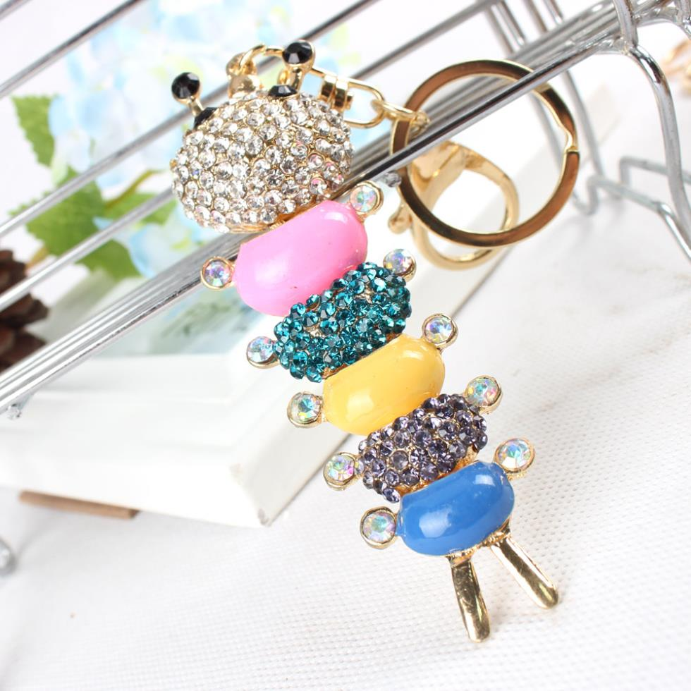Centipede Caterpillar Keyring Multicolor Rainbow Charm Pendant Crystal  Purse Bag Key Chain Cute Gift For Lovely Daughter-in Key Chains from  Jewelry ... 2d3878b68