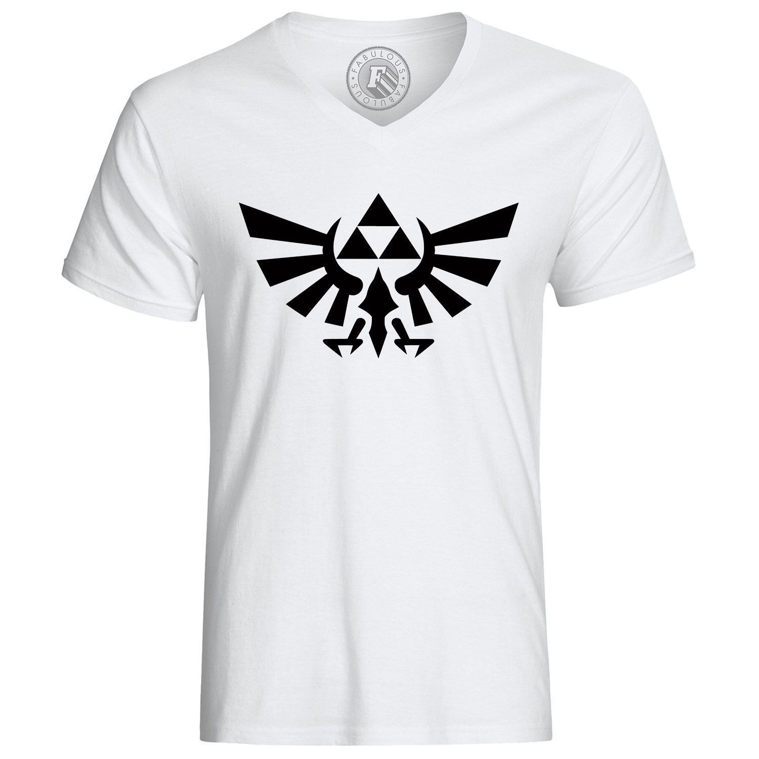 T-shirt zelda logo jeux video Printed Men T-Shirt Short Sleeve Funny Tee Shirts