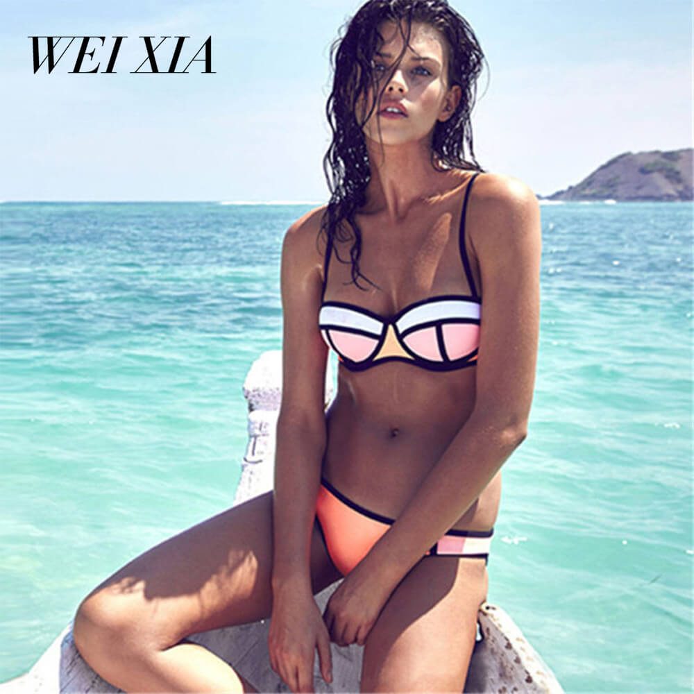 WEIXIA 2018 Best selling Womens Colorful Sexy Low waist WXpspq Bandage Bikini Beachwear Swimsuit Sexy Bikinis Women Swimsui