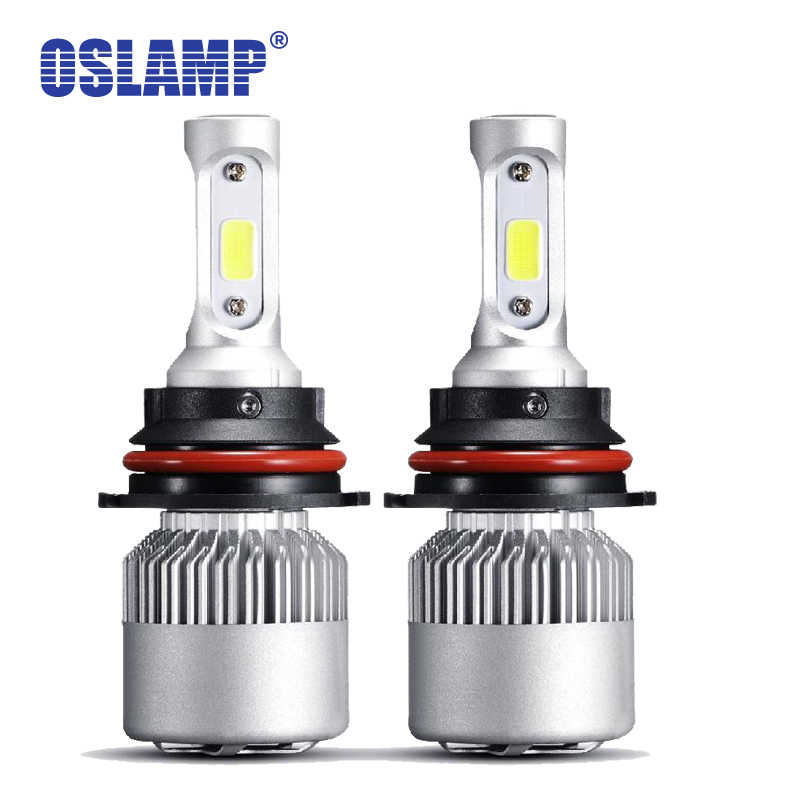 Oslamp 6500K COB Chips 9006 H7 LED Headlight 72W 8000lm H11 Auto Styling Led Lamp H4 Car Bulbs 12v with Cooling Fan All-in-one