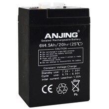 6V 4.5AH хранения Батарея герметичные свинцово-кислотные перезаряжаемый аккумулятор замена детский игрушечный автомобиль Рюкзаки-кенгуру резервного копирования 6V4. 5AH