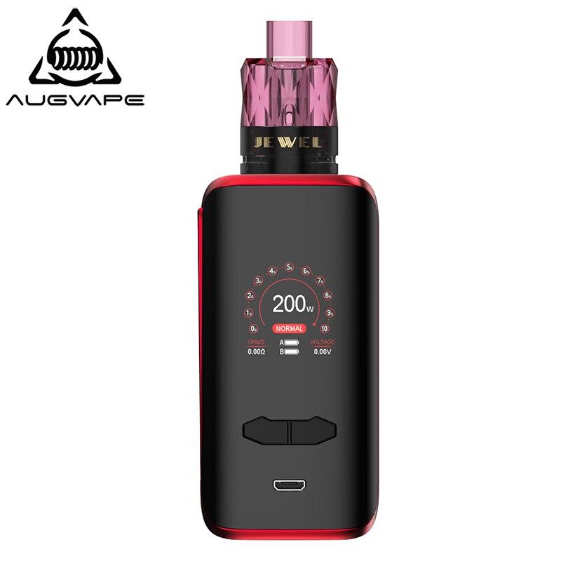 Augvape VX200 Box Mod Kit Mit Einweg Jewel Subohm Tank 200 W 1,3 Zoll Farbe Display Dual 18650 Batterie Elektronische zigarette