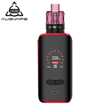 Augvape VX200 Box Mod Kit With Disposable Jewel Subohm Tank 200W 1.3 Inch Color Display Dual 18650 Battery Electronic Cigarette new geekvape nova tc kit 200w with 5 5 4ml cerberus subohm tank