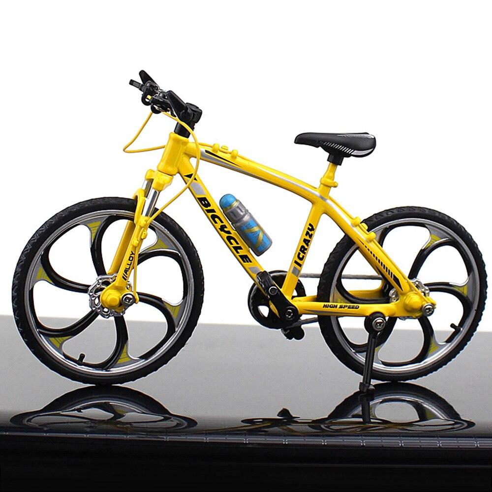 Миниатюрный велосипед коллекция игрушечный мотоцикл моделирование велосипед сплав многоцветный Декор безопасный материал Альпинизм Новинка Велосипед коллекция - Цвет: Road racing yellow
