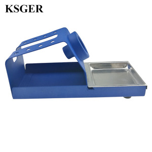 Image 4 - KSGER  DIY T12 Holder Soldering Iron OLED Station Stand FX9501 Handle Welding Iron Tips STC STM32 Aluminum Alloy Tools