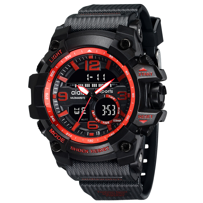 AIDIS Men Military Watch 30m veekindel käekell LED Quartz Kell Sport Sport Meeste relogios masculino Sport S Shock Watch Mehed