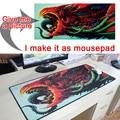 Foto imágenes DIY alfombrilla de ratón personalizada L XL Super grande alfombrilla de ratón juego gamer gaming teclado mat ordenador tableta Mouse pad