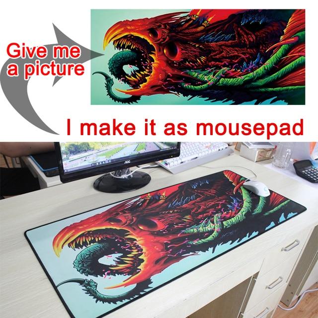 Photo photos bricolage personnalisé tapis de souris L XL Super grande grande souris jeu gamer jeu clavier tapis ordinateur tablette tapis de souris