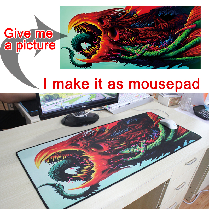 Fotos de fotos DIY Custom mousepad L XL Super grande grande Mouse pad gamer gaming gaming teclado teclado computadora tablet mouse pad