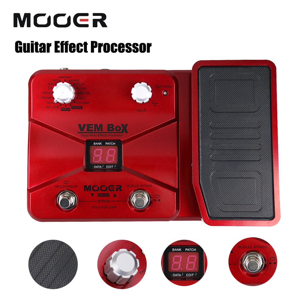 Mooer VEM Box 8 Effect Modules Multi Guitar Processor Effects Pedal Supports Loop Vocoder Including 54 Types Portable Vocal mooer ensemble queen bass chorus effect pedal mini guitar effects true bypass with free connector and footswitch topper