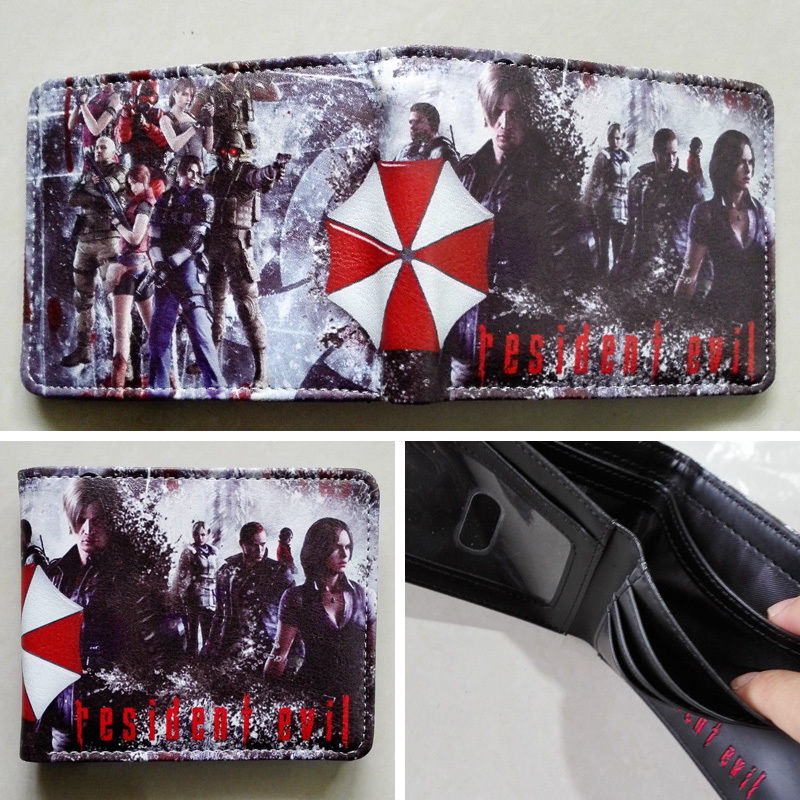 2018 Movie Resident Evil Logo 01 wallets Purse Multi-Color Leather New Hot W174 2018 movie the terminator t850 skull logo wallets purse multi color 12 cm leather w211