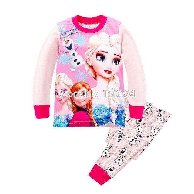 Новая девушка пижамы baby girl одежда дети пижамы ребенок одежда чистого хлопка ночное