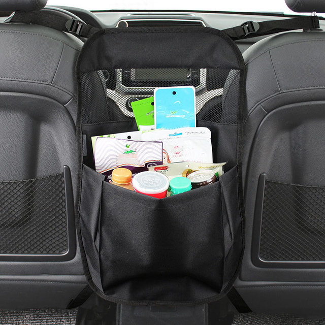 Car Seat Bag Storage Back Organizer Holder Pets Kids Protect Interior Accessories Stowing Tidying Between Front Seats