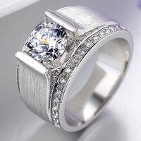 Sona Diamond Ring Men Wedding Bands Men Gemstone 925 Silver Ring Superman Wedding Ring Rhinestone Jewelry