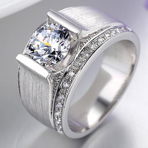 men wedding 925 silver rings superman wedding ring rhinestone jewelry high qualitychina mainland - Superman Wedding Rings