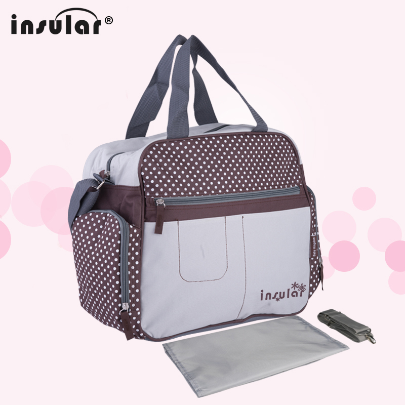 все цены на New Arrival Fashion Patchwork Mommy Bag Multifunctional Baby Diaper Bags Waterproof Changing Bag Nappy Bags