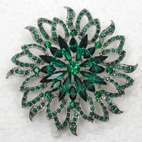 Wholesale Retail Brooch Rhinestone Marquise Flower Fashion Pin Brooches Wedding Party Prom Jewelry Gift C101716