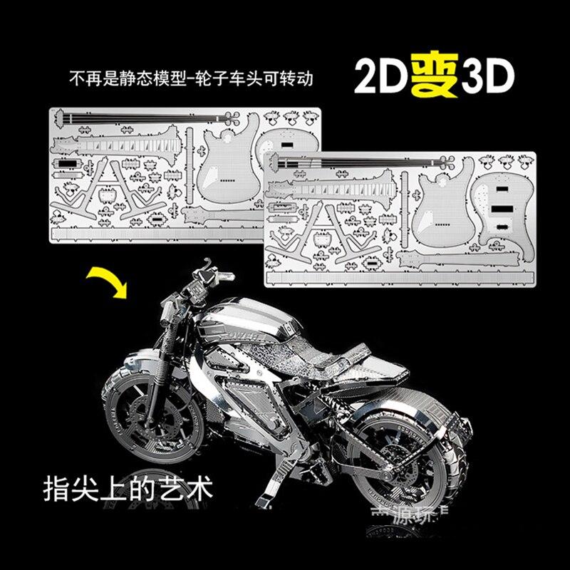 Nan juuan 3D Metal Puzzle Avenger Motorcycle DIY - ფაზლები - ფოტო 3
