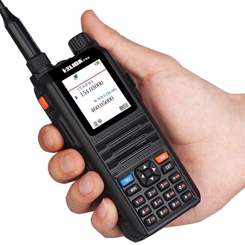 Dual BandHam RadioDigital Walkie Talkie 5W Comunicador Professional Transceiver 5W CP-UV2000 VHF/UHF Tri-Band 136-520mhz