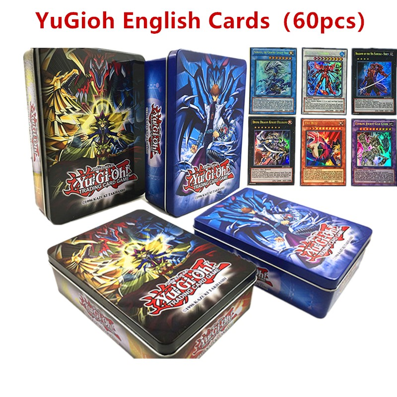 60pcs/set Yugioh Game Cards Against All Flash Cards Rare Card Group Iron Box Boy Collection Christmas Gifts Hobby & Collectibles