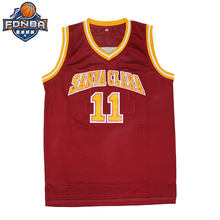 2c019b80a7d Steve Nash  11 College Basketball Jerseys Cheap Santa Clara University Red  Throwback Lakers Jersey Stitched Retro Shirt Camiseta
