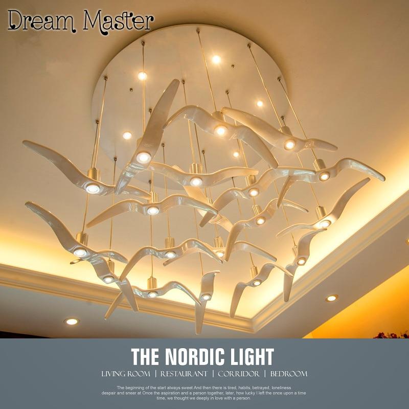 aliexpress koop nordic creatieve seagull kroonluchter moderne