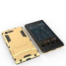 Спорт Heavy Duty Человек Стиль Робот Броня Hybrid PC + TPU Combo телефон Случае Для Sony Xperia X Компактный 4.6 дюймов Задняя Крышка Кожи Shell