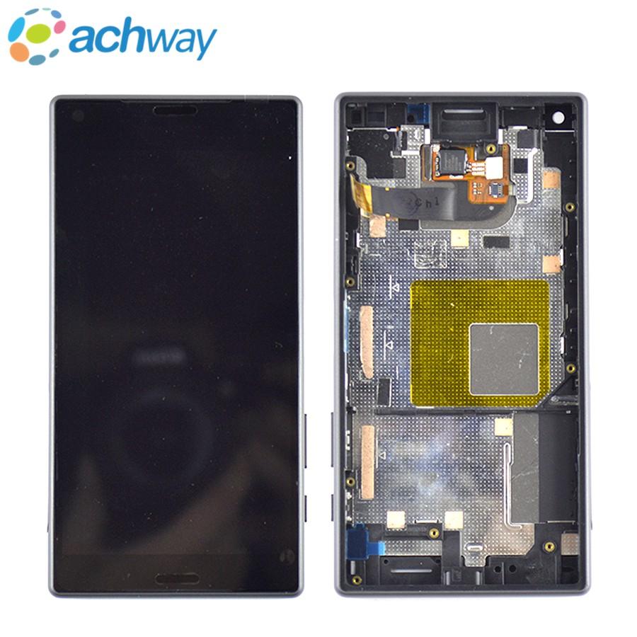 Prix pour Pour Sony Xperia Z5 Compact LCD Affichage à L'écran Tactile Digitizer Assemblée Pour Sony Z5 Compact LCD Avec Cadre Pièces De Rechange