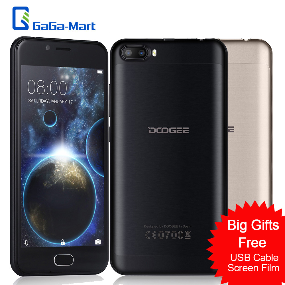 "Цена за СТРЕЛЯТЬ 2 Смартфон DOOGEE MTK6580A Quad core 1.3 ГГц Android 7.0 1 ГБ + 8 ГБ 3360 мАч Отпечатков Пальцев 5.0 ""Дюймовый 3 Г WADMA Мобильного Телефона"