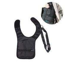New Style Novelty Cool Men Travel Storage Bag FBI Hidden Underarm Pocket Mp3 Passports Mobile Phone Holder Organizer