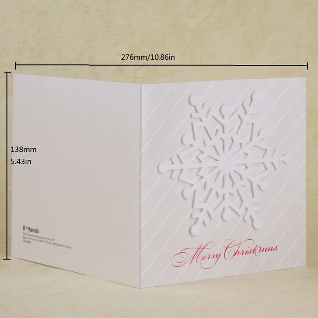 Snowflake christmas cards white christmas decoration gift greeting snowflake christmas cards white christmas decoration gift greeting cards with red envelope thank you message invitation m4hsunfo