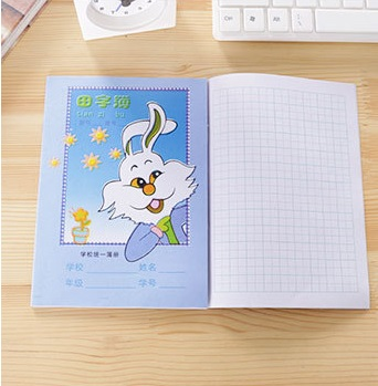 10 PCS Chinese Character Calligraphy Maths Drawing Exercise Workbook Pen Pencil Notebook Copybook TianZi Pinyin Write Book