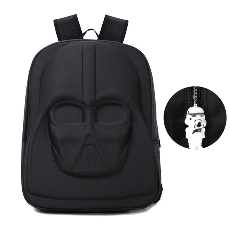 darth vader school backpack and stormtrooper keychain