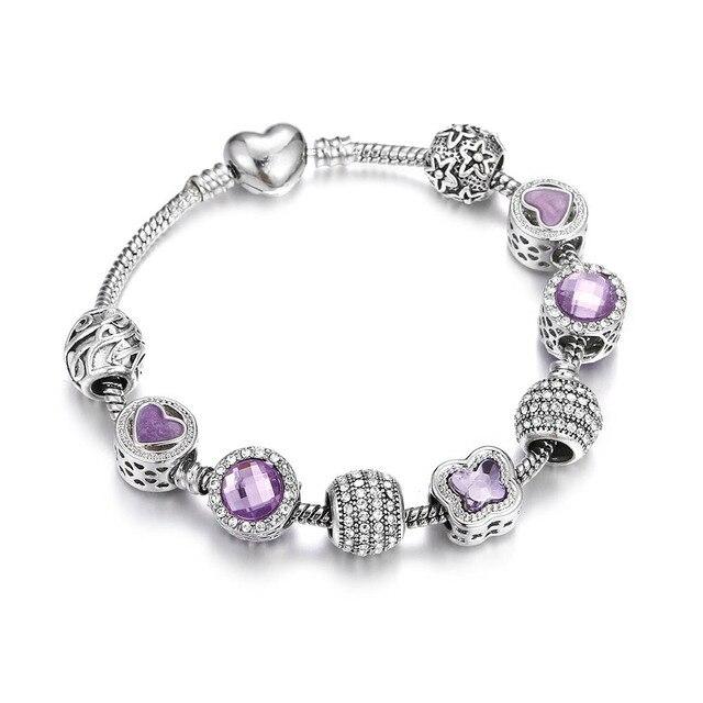 Crystal Beads Pink Purple...