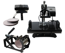 lowest price combo 5 in 1 t-shirt heat press machine with plate size: 15cm x 20cm