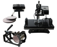 lowprice combo 5 in 1 t shirt heat press machine with plate size 15cm x 20cm