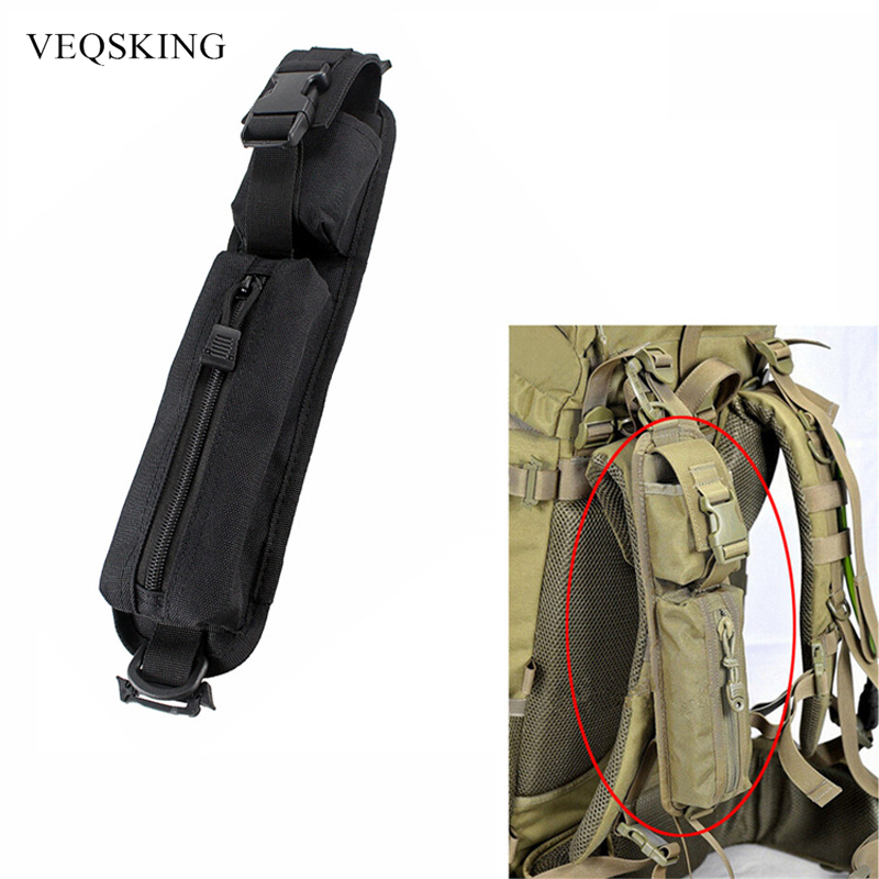 Backpack Accessories Tactical Shoulder Strap Flashlight Pouch Outdoor Camping