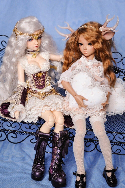 Chloé-BJD poupées 1/4 doux mode fée jouets nus pour les filles cadeaux d'anniversaire