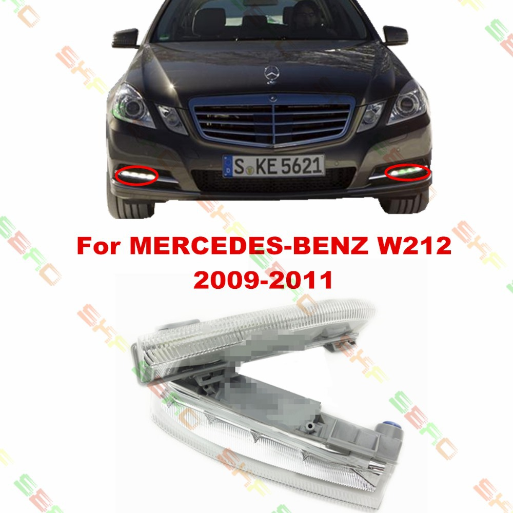 For MERCEDES-BENZ E-CLASS W212  2009/10/11  car styling fog light LAMPS led Daytime running lights  1 SET mercedes actros 1844 2009