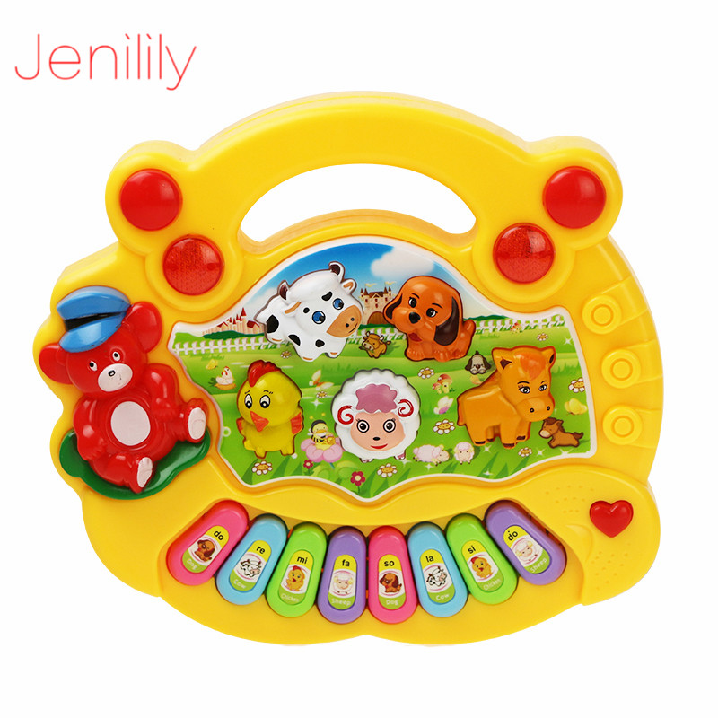 2 Styles Musical Toys Animals Farm Piano Instrument Baby Kids Developmental Music Educational Toys For Children Birthday Gift