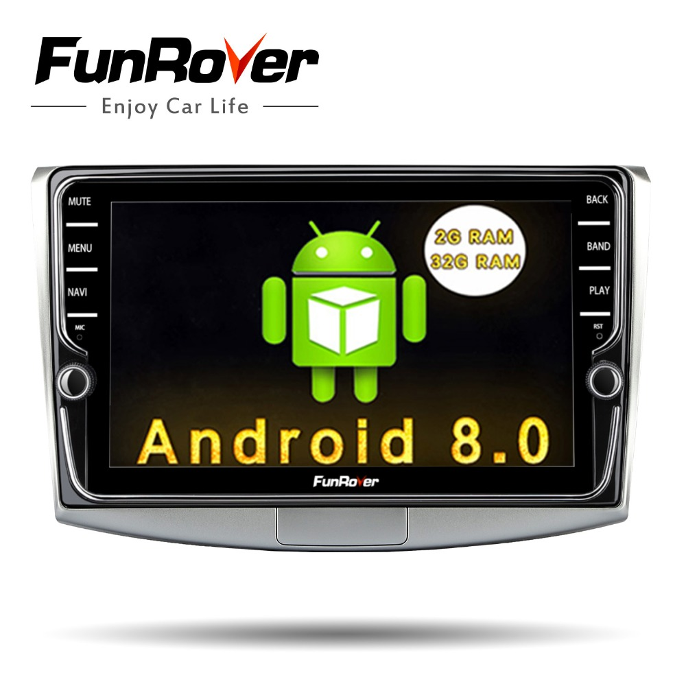 Funrover andriod 8.0 Car Multimedia player 2 Din Car DVD for Passat B6 B7 CC Magotan 2011-2015 audio radio gps navigation stereo